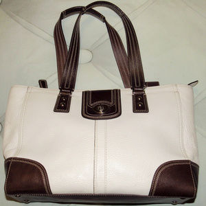 COACH LARGE LEATHER SHOULDER handbag BAG